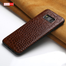 For Samsung Galaxy A7 2018 case Original leather Coque for samsung S8 S9 s10 plus back covers SAMSUNG a5 2017
