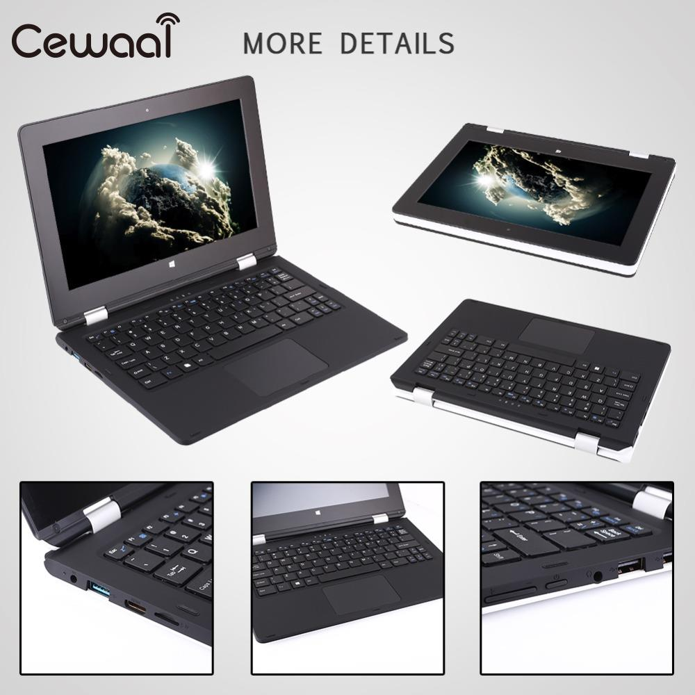 Cewaal 2 in 1 Ultra Thin Tablet PC Notebook Computes