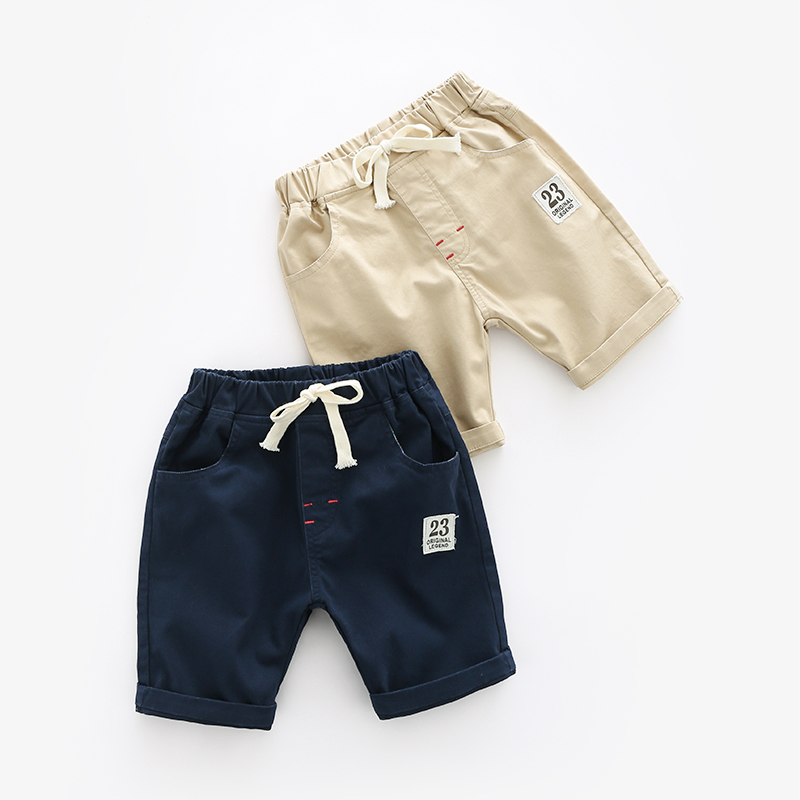 Baby solid color pants 2018 summer Korean version of the new boy children's clothing children's casual pants cloth shorts