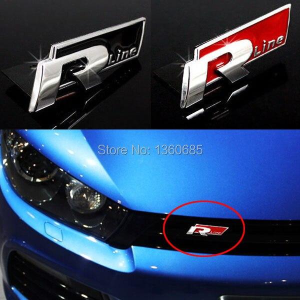 3d metal car sticker rline front emblem for vw jetta. Black Bedroom Furniture Sets. Home Design Ideas
