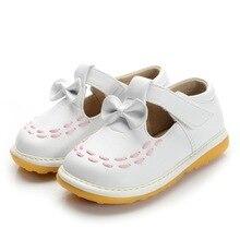 Blanc Enfant Fille Grinçantes Chaussures Taille 3 4 5 6 7 8 9 Premiers Marcheurs à Semelle Souple Bébé En Cuir Casual chaussures