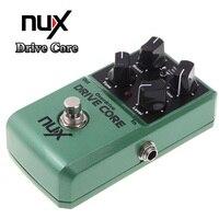 NUX Drive Core Эффект Электрический педаль эффектов смесь Boost и звуковой эффект овердрайв оригинальный байпасс зеленый Алюминий сплав Корпус