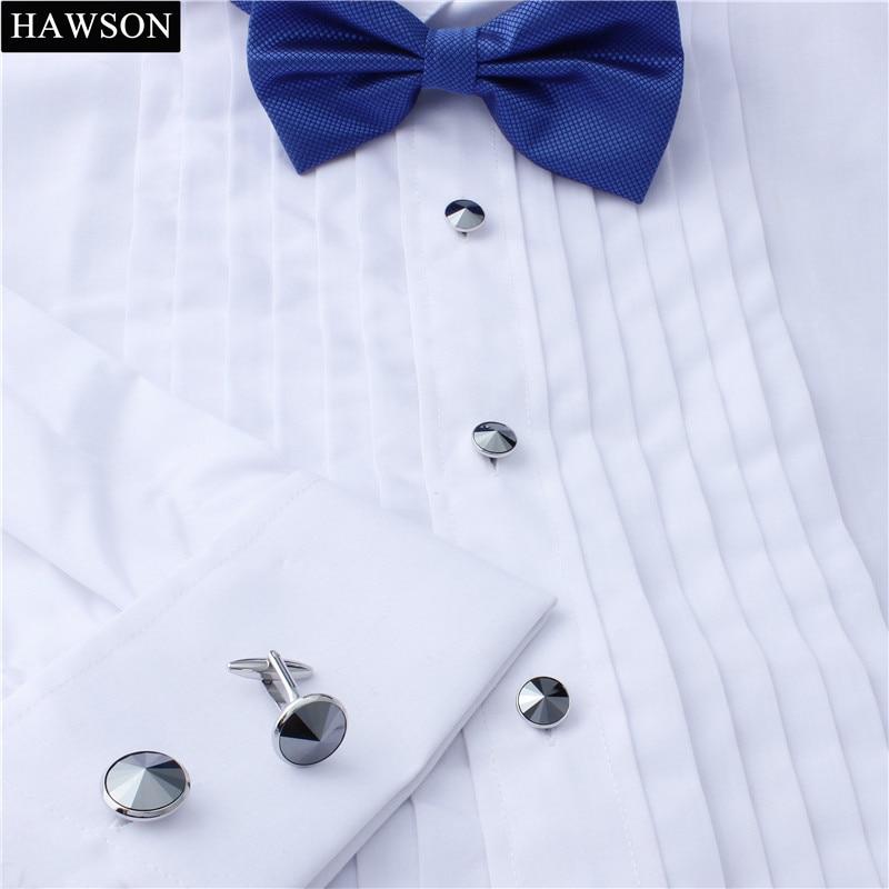 Mens Fashion Tuxedo Studs Cufflinks Formal Constume Shirt Cuff Link Studs 6pcs/ Set
