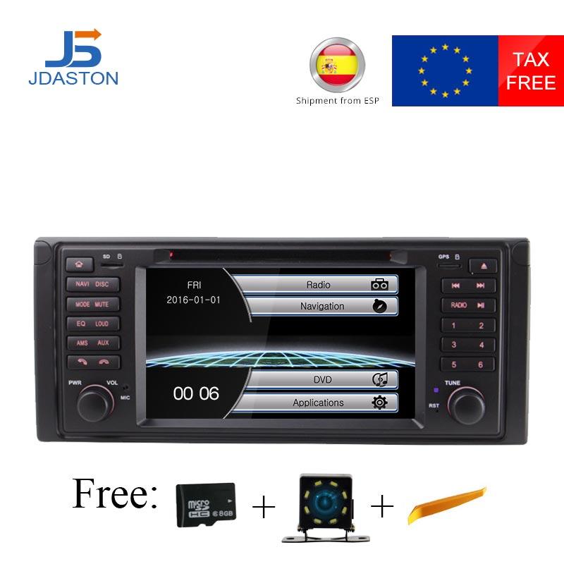 JDASTON HD écran tactile 7 pouces voiture dvd radio lecteur multimédia pour BMW X5 M5 E39 E53 stéréo vidéo peut bus commande au volant