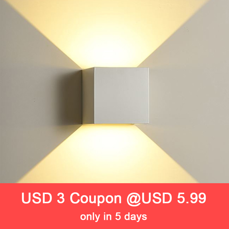 Modern 12W COB LED Wall Lamp waterproof Indoor Outdoor Simple Style Aluminum Wall Lights for Bedroom Hallway Porch BalconyModern 12W COB LED Wall Lamp waterproof Indoor Outdoor Simple Style Aluminum Wall Lights for Bedroom Hallway Porch Balcony