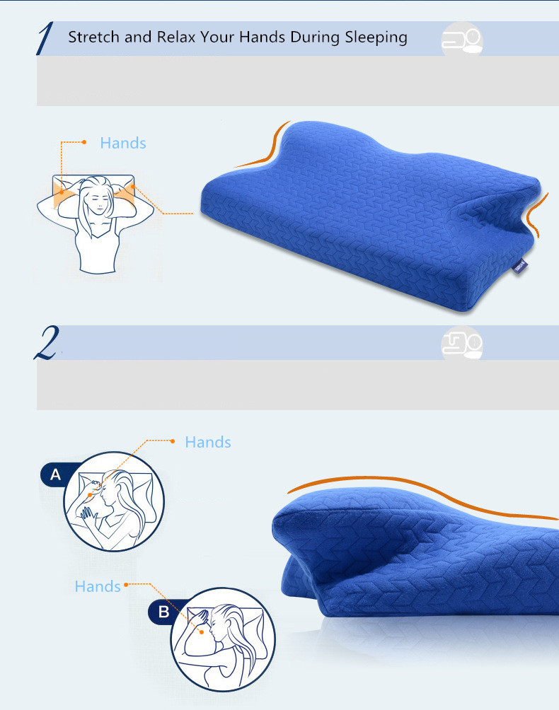 Image 3 - 60*32CM Orthopedic Latex Physiotherapy Pillow Slow Rebound Memory Foam Sleep Neck Pillow Cervical Health Pain Release Pillow-in Decorative Pillows from Home & Garden