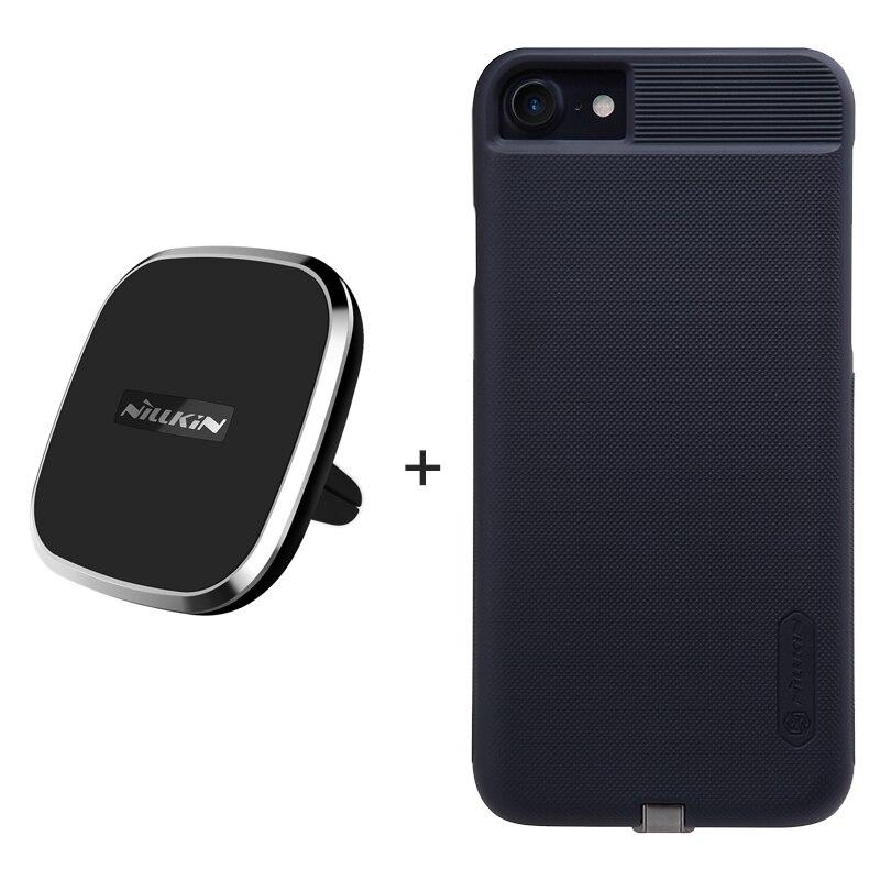 NILLKIN Qi carro sem fio do carregador pad + receptor caso para o iphone 7 caso para o iphone 7 Plus Phone Holder Magnetic Air Vent Mount pad