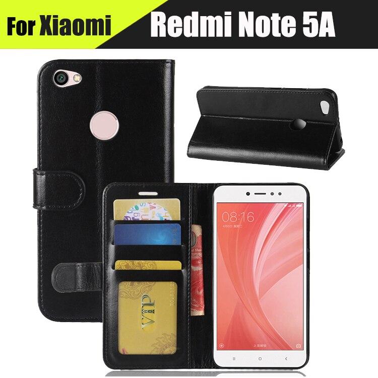 EiiMoo Case Cover For Xiaomi Redmi Note 5A Pro Prime Leather Flip Wallet Funda Capa For Xiaomi Redmi Note 5A Pro Prime Case 5.5