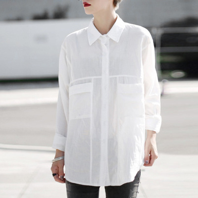 Aliexpress.com : Buy Women Cotton Oversized Shirt Long Sleeves ...