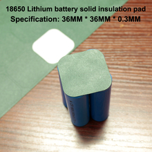 50pcs/lot Lithium Battery Diy Universal Insulation Pad 4 Section 18650 Pack High Temperature Sheet 4pcs13 13cm thickness 0 4mm universal cuttable insulation high temperature insulation mica sheet microwave oven insulation sheet