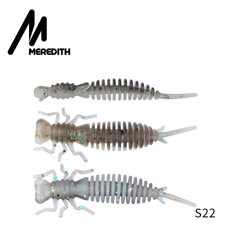 Мягкие приманки MEREDITH Larva, 50 мм, 62 мм, 85 мм, искусственные приманки, силиконовая приманка для ловли червя, приманка для ловли щуки, гольян, плавающая приманка, пластиковые приманки - Цвет: S22