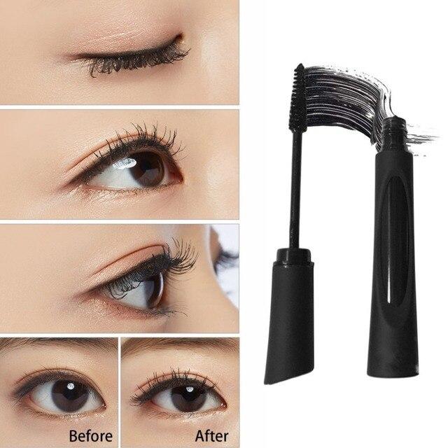 2PCS/SET 3D Fiber Black Mascara Lengthening Curling Cosmetic Mascara Professional Natural Waterproof Eyelash Eye Makeup Tools 5