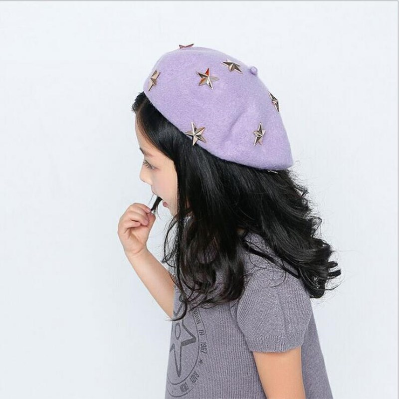 oZyc Berets for Baby Girl 2018 New Children Autumn winter wool Beret Little  Girls Spring Hats Dome Cap Girl Fashion Caps -in Hats   Caps from Mother    Kids ... 9cdf6481cee
