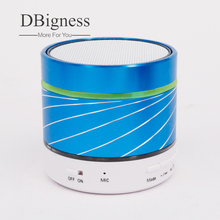 Dbigness Light Portable Mini Metal Wireless Bluetooth Speaker Subwoofer Music Amplifier with FM Radio MP3 Player