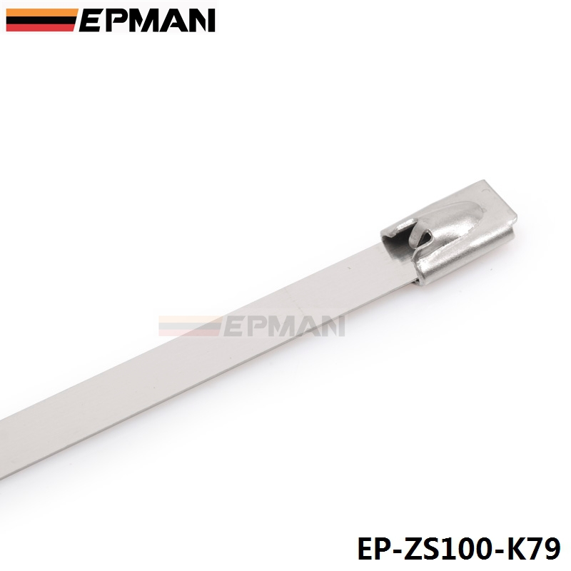 73f7e5193a65 100pcs 7.9mm x 300mm Exhaust Heat Stainless Steel Cable Ties Wrap Metal Tie  Extra Long & Wide Large For VW 5 EP ZS100 K79-in Engine Care from  Automobiles ...
