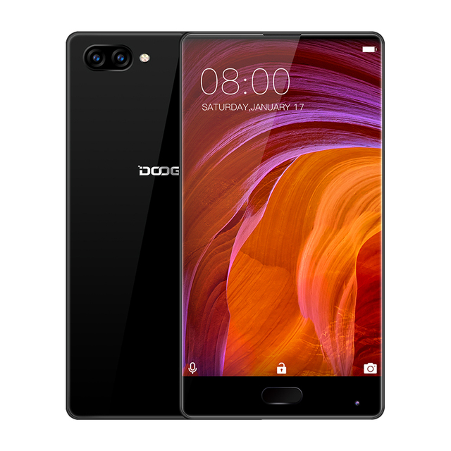 100% Original DOOGEE MIX Smartphone Android 7.0 Dual Cameras 5.5Inch AMOLED MTK Helio P25 Octa Core 6GB+64GB LTE 3380mAh 16.0MP