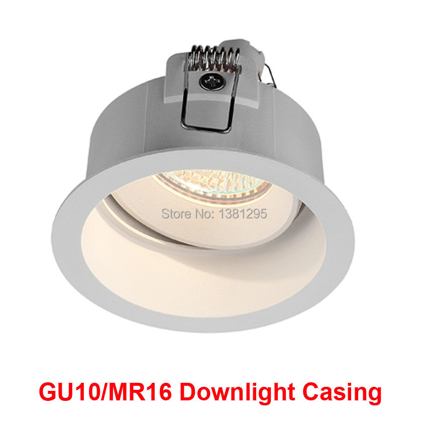 Downlight GU10 Fitting Swiveli Spot LED Recessed Light Mounting Frame Ceiling Fixture MR16 GU5 3 base