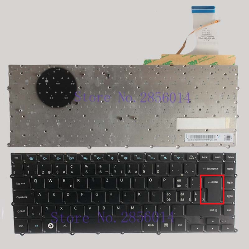 NEW Swiss FOR Samsung NP900X4 NP900X4B NP900X4C NP900X4D SW laptop Keyboard Backlit without Frame gross 20801