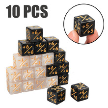 New Arrival 10Pcs/set 16mm 6 Sided +1/-1 Kids Counting Dice Interesting Gaming Party Bar Dices