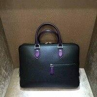 TERSE_Hot sale vintage handbag mans handmade patina briefcase 3 colors genuine leather tote bag for man custom service dropship