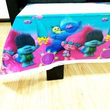 108x180cm Trolls Tablecloth  Theme Party Kids Birthday Decoration supplies