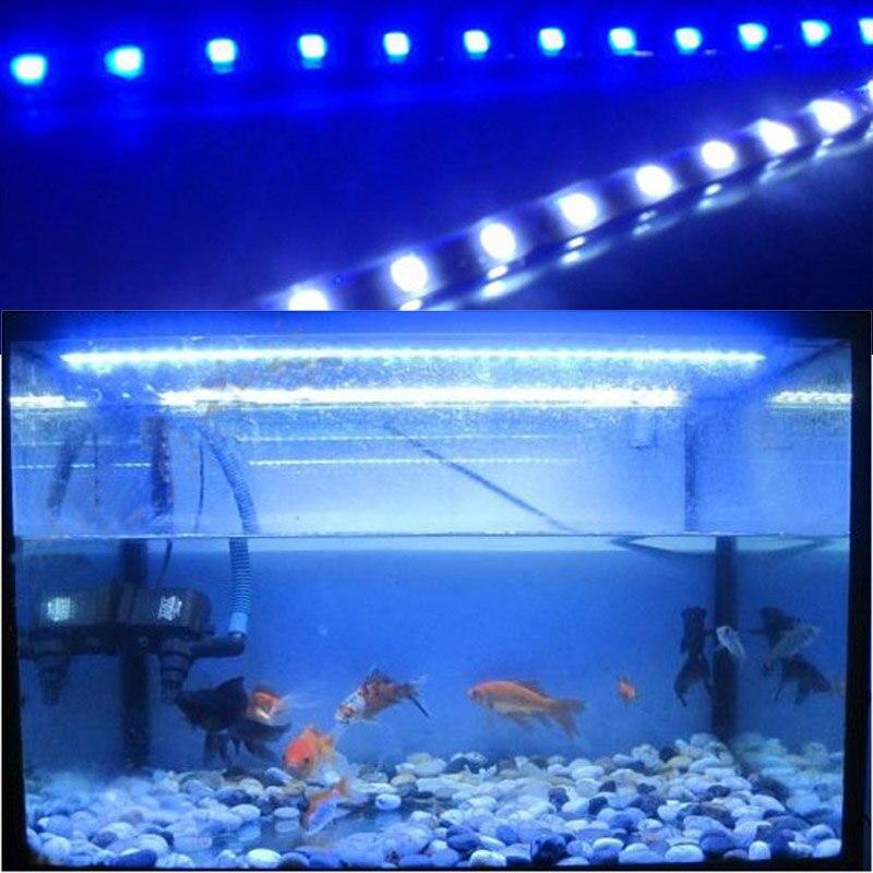Аквариум Светодиодные ленты Освещение SMD5050 Светодиодные лампы для роста растений полосы для водных растений растут в аквариуме AC 220 В