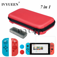 IVYUEEN 7 In 1 EVA Protective Hard Storage Bag For Nintend Switch NS Console Film Silicone