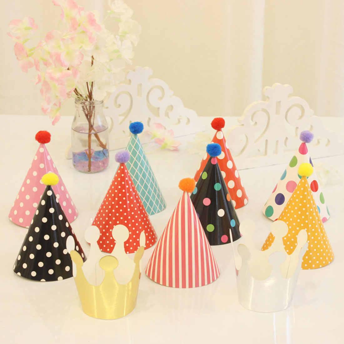 Фестиваль красочные праздничный колпак 11 шт. для маленьких детей Радуга поздравительная открытка ребенок диадема бумага кепки мультфильм шаблон