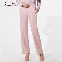 Kinikiss Women Formal Pants 11 11 Shopping Festival Skinny Pants Fashion Elegant Wide Leg Pants Full