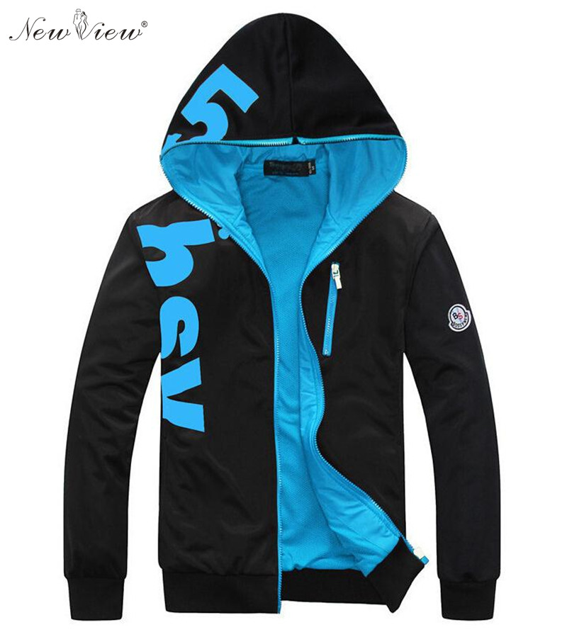 Brand New Fashion Winter Jacket Men Sweatshirt Parka Jacket Coral Fleece Lining Hoodies  ...