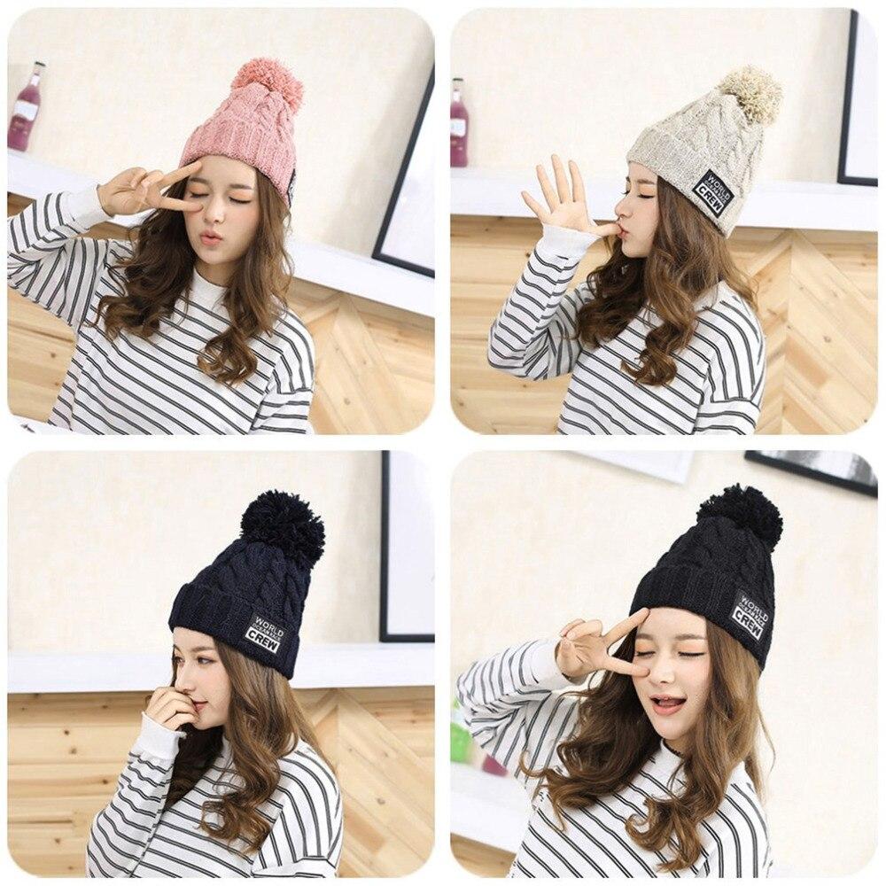 Aliexpress.com: Comprar Tejer invierno mujeres Beanie sombreros con ...