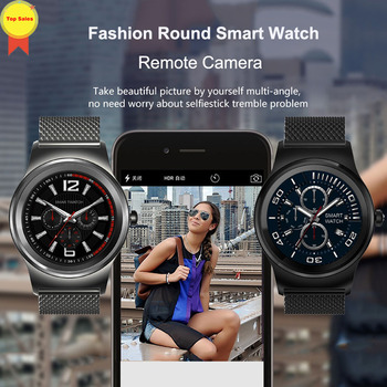 new fashion Smart Watch 2019 Men Sports Bluetooth full round Smart Watches Fo Android IOS Remote Control Camera Wristwatch pk s1