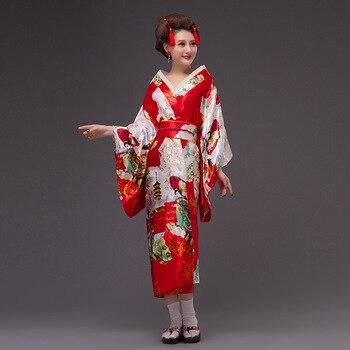 433ba1656 Kimono japonés vestido tradicional kimonos mujer 2018 obi haori geisha  disfraz tradicional japonés ...
