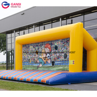 Funny soccer shooting game equipment inflatable football gate for backyard playground good quality inflatable soccer target