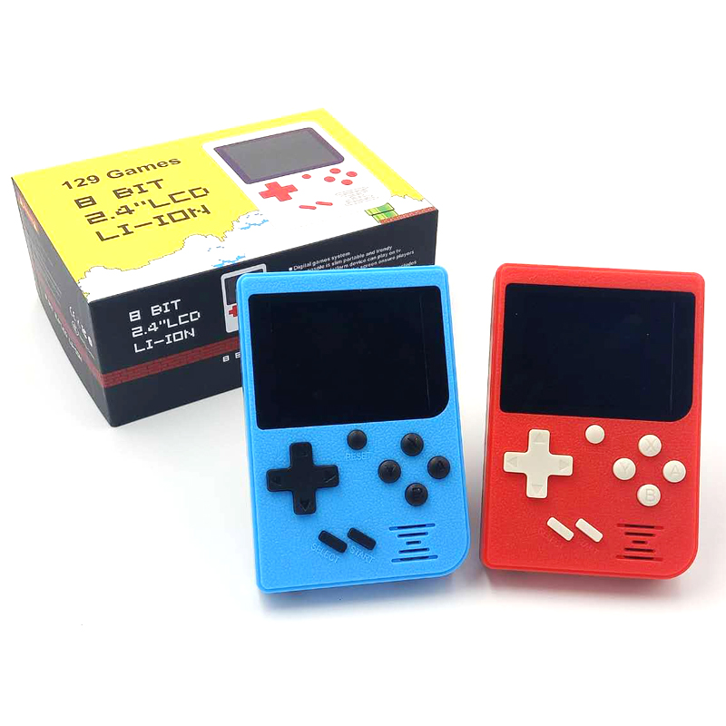 Pocket Handheld Game Console 2.4inch 8 Bit Built In 129 Games Retro Portable Game Player Support TV Output Built In 168