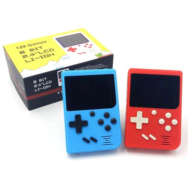 Für gameboy Tasche Handheld Spielkonsole 2,4 zoll 8 bit Eingebaute 129 Spiele Retro Tragbare Spiel Player Unterstützung TV Ausgang