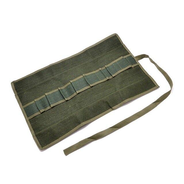 € 8.9 41% de réduction Armée vert japonais bonsaï paquet de stockage  rouleau sac jardin réparation outil pinces ciseaux toile outil kit d\'outils  ...