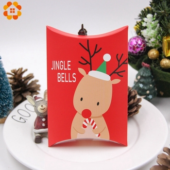 1Set Deer&Santa Claus Merry Christmas Candy Gift Boxes Guests Packaging Boxes Gift Bag Christmas Party Favors Kids Gift Decor 2