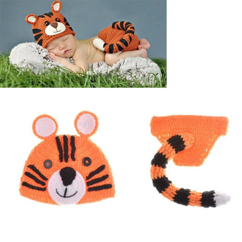 lindo accesorios de fotografa trajes animal tiger sombreros shorts trajes set apoyos de la foto