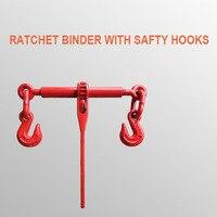 5.9 Toneladas de 13-16mm Ratchet Binder Com Ganchos de Segurança 1/2-5/8 inches Lever Tensor Aparelhamento Esticador Catraca acessórios