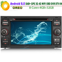 Car DVD player DAB+ Android 8.0 Autoradio WiFi 4G CD Radio RDS BT SD DVR OBD for FORD C Max Connect Octa Core GPS Bluetooth