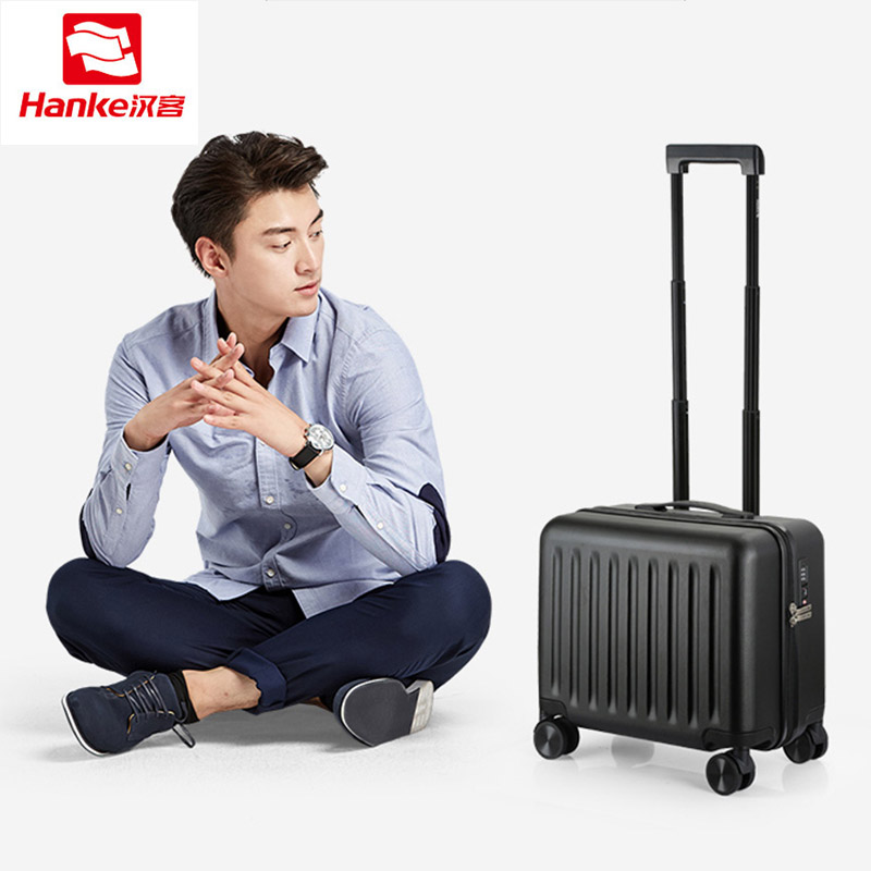Hanke 20 Inch PC Rolling Luggage Travel Suitcases Women Spinner Trolley Carry ons Luggages Men Boarding Case Commercial Bag