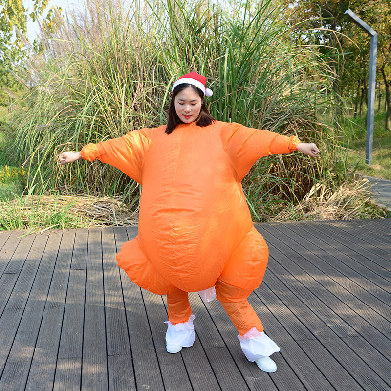 Centuryestar Anime Fan Inflatable Costume New Thanksgiving Day Turkey Cosplay Outfit Cloth With Hat Fantasias Adulto Feminino