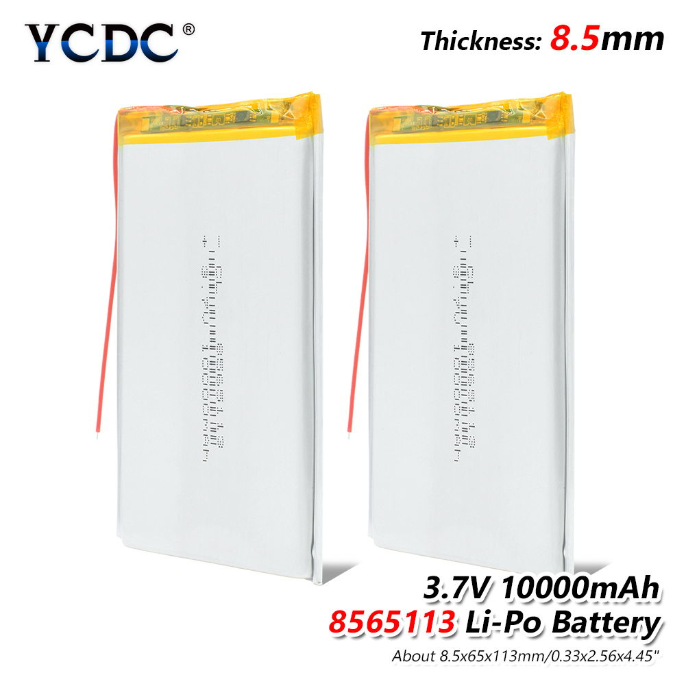 3.7V polymer lithium battery 10000mah 8565113 mobile power charging treasure DIY rechargeable For MP4 GPS Tablet MID Power Bank 3 7v 12000mah 1640138 combination rechargeable lipo polymer lithium li ion battery for power bank tablet pc laptop pad pcm board