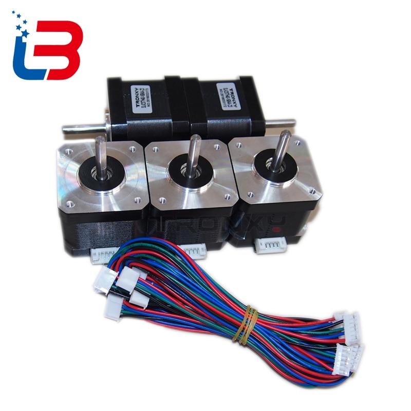 17 Nema motor de passo do motor para impressora 3D SL42STH40-1684A 1.8A 78Oz-in 42 TRONXY IMPRESSORA acessórios DIY kit para parte