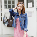 2016 New Women's Fashion Slim Patchwork Denim Jackets Classical Outwear Jeans Coat Jackets