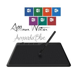 Image 4 - قاومون S620 6.5x4 بوصة الرقمية القلم اللوحي أنيمي جهاز كمبيوتر لوحي للرسومات للعب OSU مع 8192 مستويات القلم خالية من البطارية