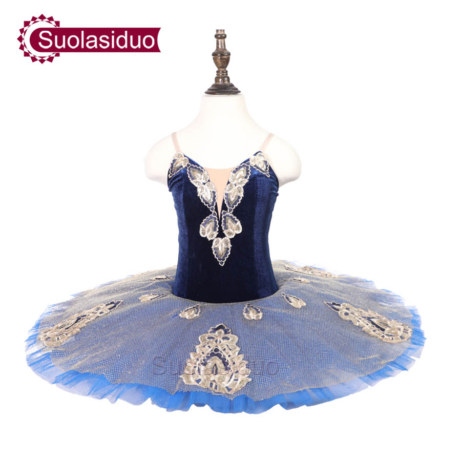 Childre Blue Professional Ballet Tutu The YAGP Performance Dancewear Kids Classical Dance Competition Costumes Adult