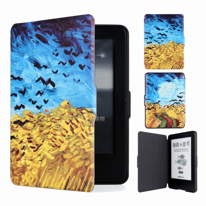 1pc Case For Amazon New Kindle Touch 2014 (Kindle 7 7th Generation) 6'' Ereader Slim Protective Cover Smart Case