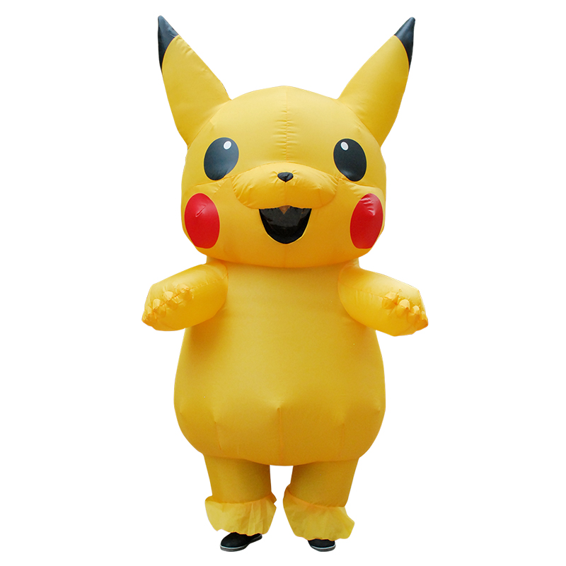 Pikachu Inflatable Costumes  Large Mascot Pokemon Cosplay Costume Spirit Dress  for Women/Men to Theme Park,Photograph,Show